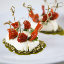 mozzarella campana et tomates confites