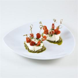 tomates confites pesto et mozzarella campana