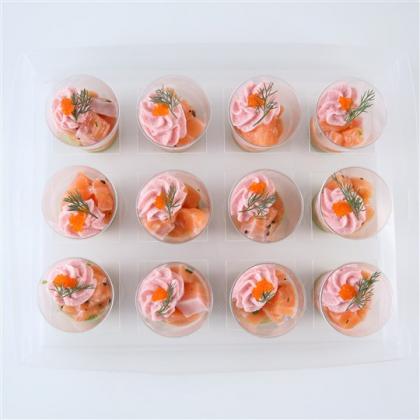 tartare de saumon frais et tarama