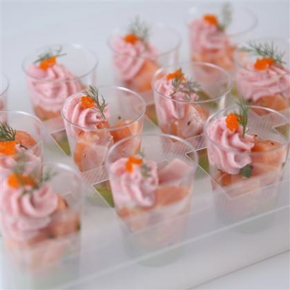 tartare de saumon frais au gingembre