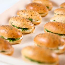 minis sandwichs végétariens