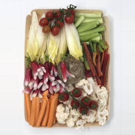 Corbeille de légumes fromage blanc et anchoïade