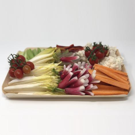 Panier e légumes croquants et anchoïade